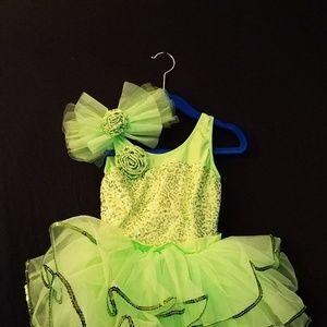 Dance Costume - small child green